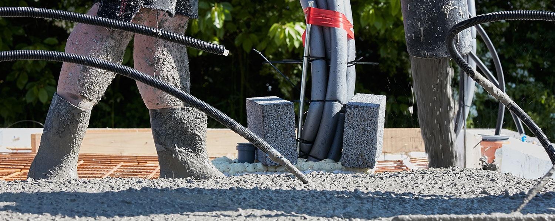 Betonarbejde, beton der bærer hele byggeriet